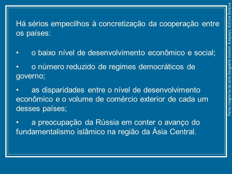 Há sérios empecilhos à concretização da cooperação entre os países: