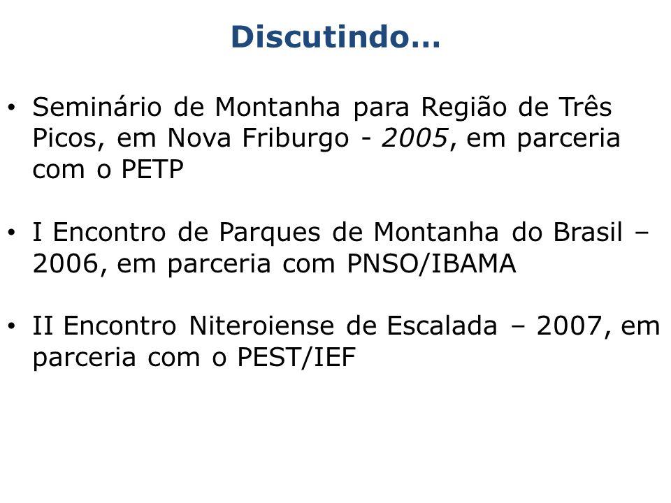 Discutindo…Seminário de Montanha para Região de Três Picos, em Nova Friburgo - 2005, em parceria com o PETP.