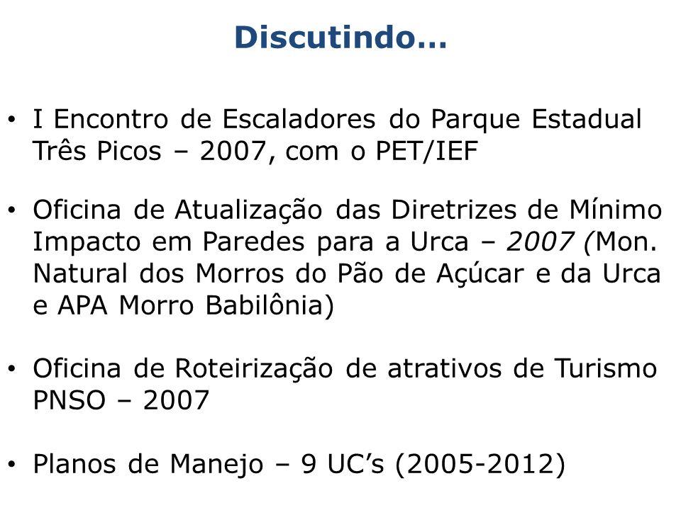 Discutindo…I Encontro de Escaladores do Parque Estadual Três Picos – 2007, com o PET/IEF.
