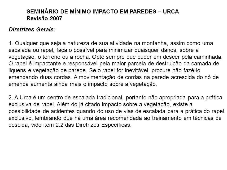 SEMINÁRIO DE MÍNIMO IMPACTO EM PAREDES – URCA