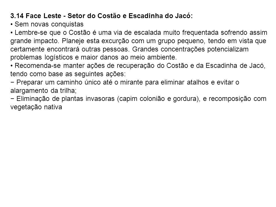 3.14 Face Leste - Setor do Costão e Escadinha do Jacó: