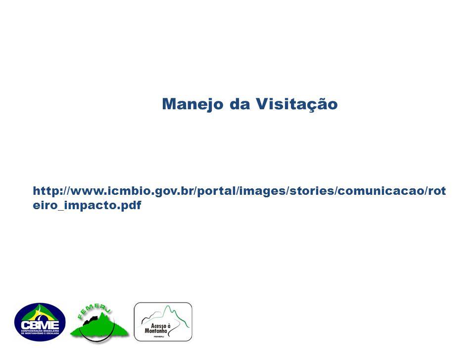 Manejo da Visitação http://www.icmbio.gov.br/portal/images/stories/comunicacao/roteiro_impacto.pdf