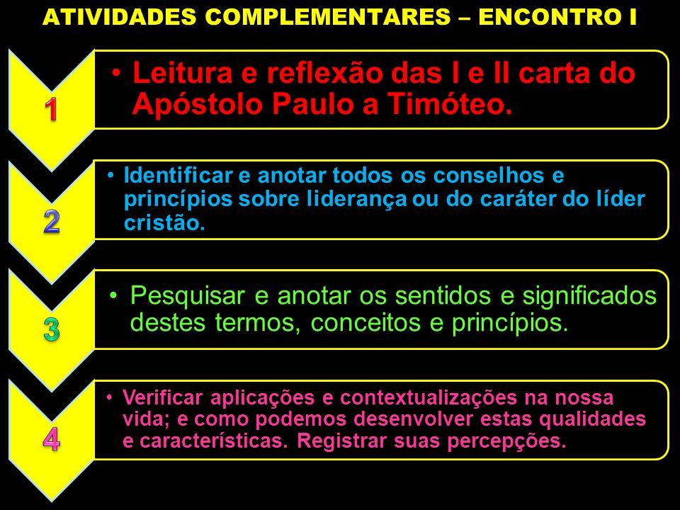 ATIVIDADES COMPLEMENTARES – ENCONTRO I