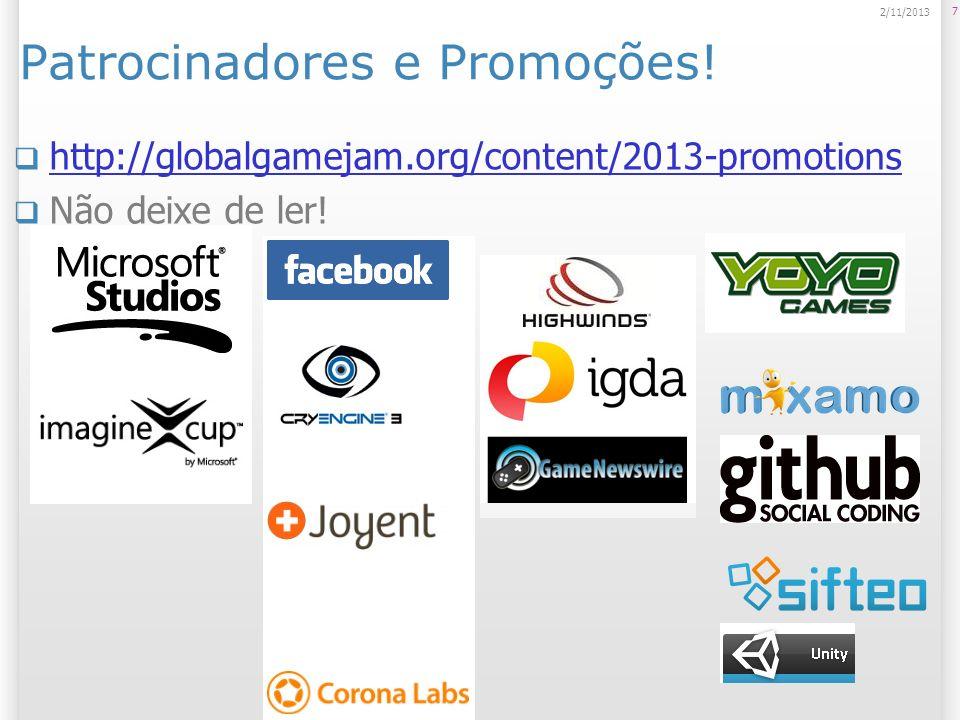 Patrocinadores e Promoções!