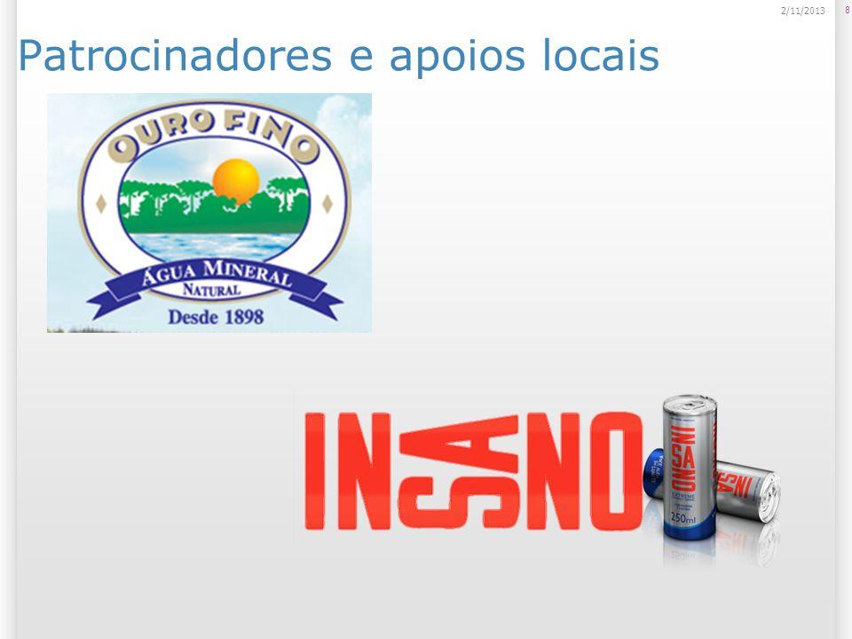 Patrocinadores e apoios locais