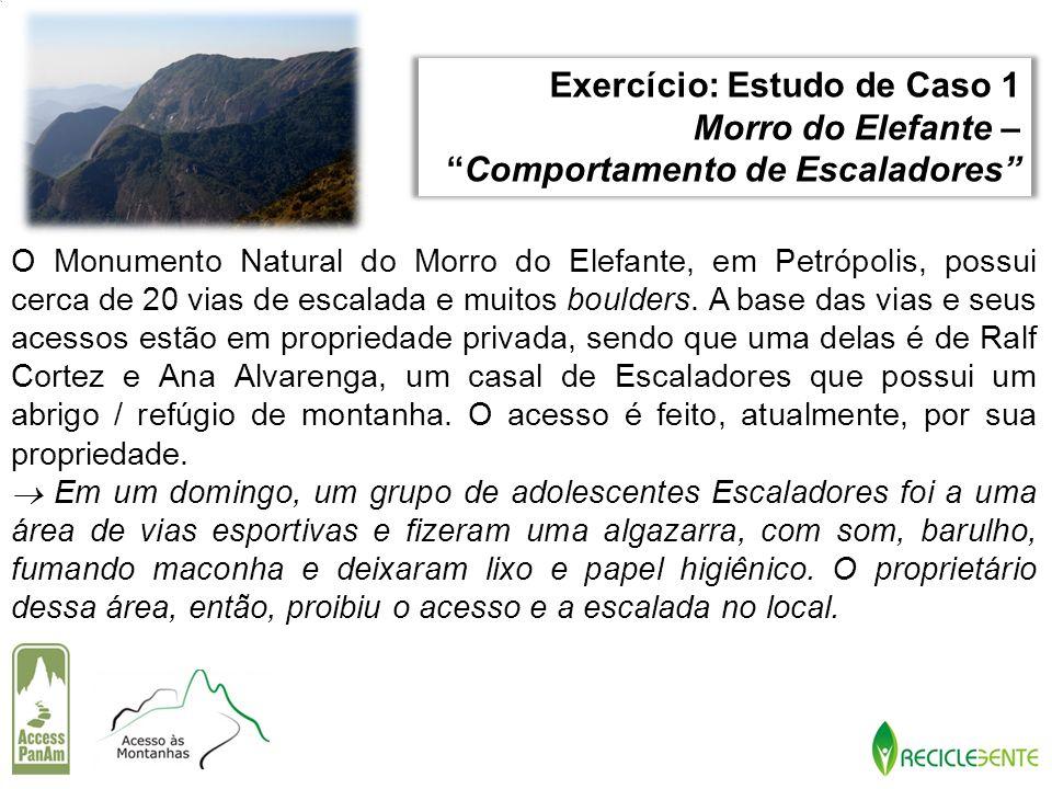 Exercício: Estudo de Caso 1 Morro do Elefante –