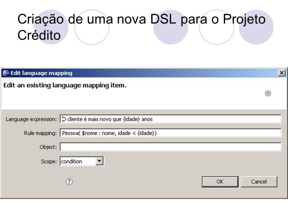 Criação de uma nova DSL para o Projeto Crédito