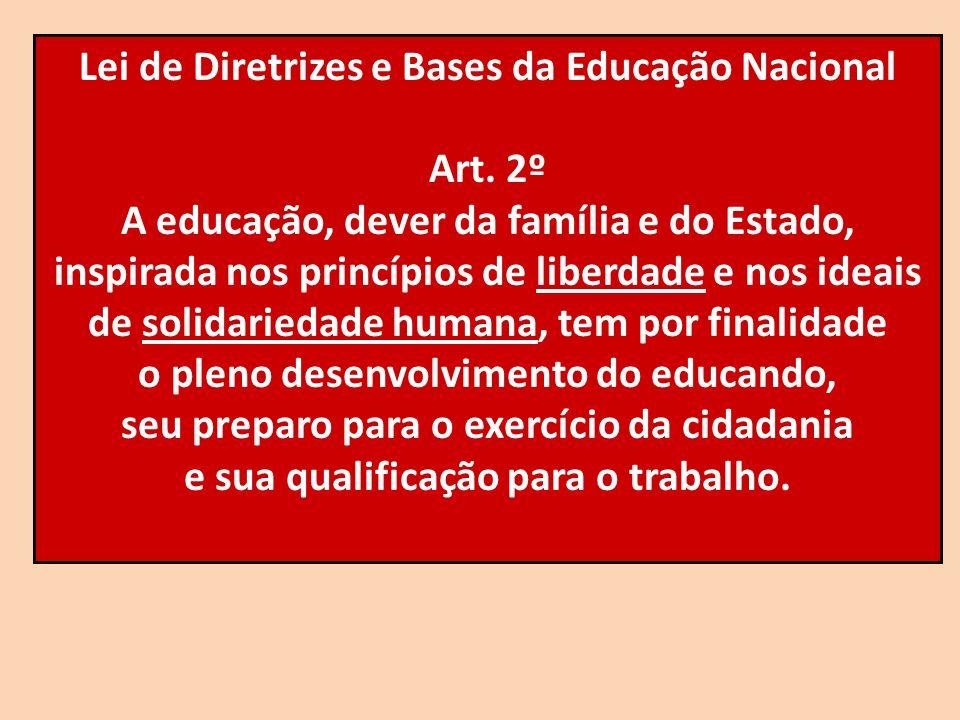 Lei de Diretrizes e Bases da Educação Nacional Art. 2º