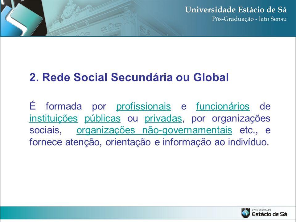 2. Rede Social Secundária ou Global