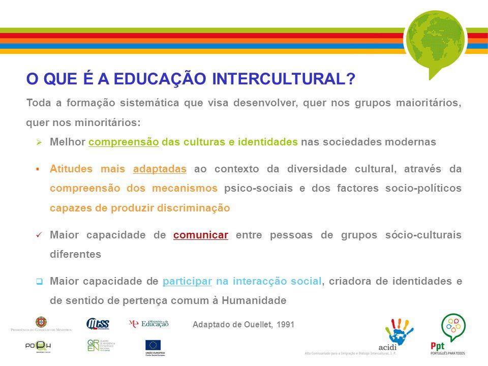 O QUE É A EDUCAÇÃO INTERCULTURAL