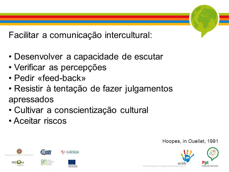 Facilitar a comunicação intercultural:
