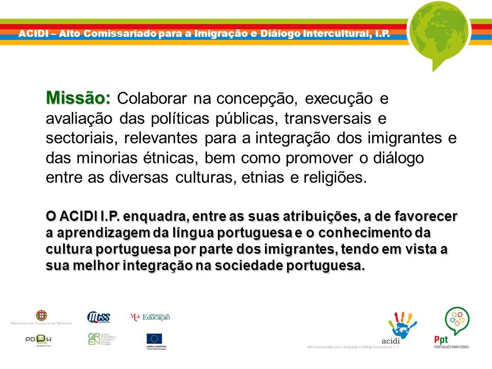 ACIDI – Alto Comissariado para a Imigração e Diálogo Intercultural, I