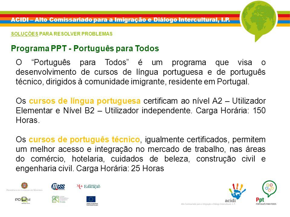 Programa PPT - Português para Todos