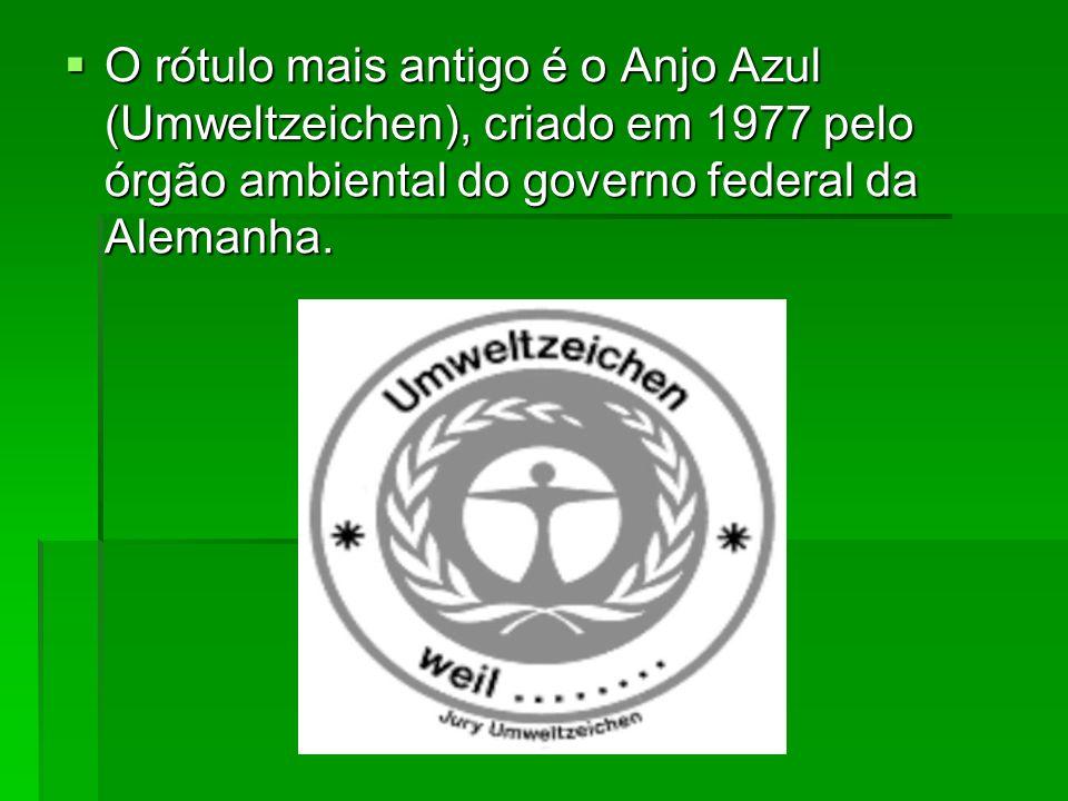 O rótulo mais antigo é o Anjo Azul (Umweltzeichen), criado em 1977 pelo órgão ambiental do governo federal da Alemanha.