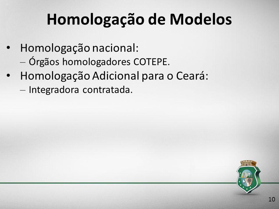 Homologação de Modelos