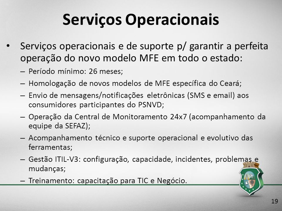 Serviços Operacionais