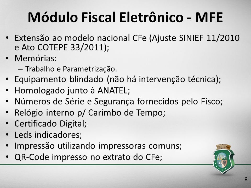 Módulo Fiscal Eletrônico - MFE