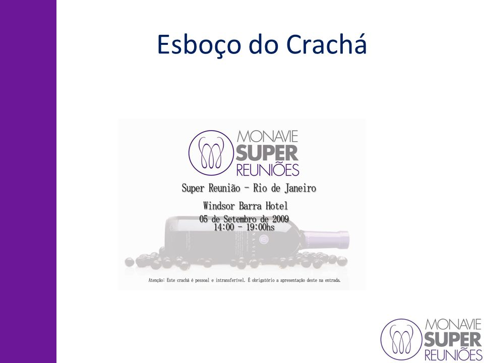 Esboço do Crachá