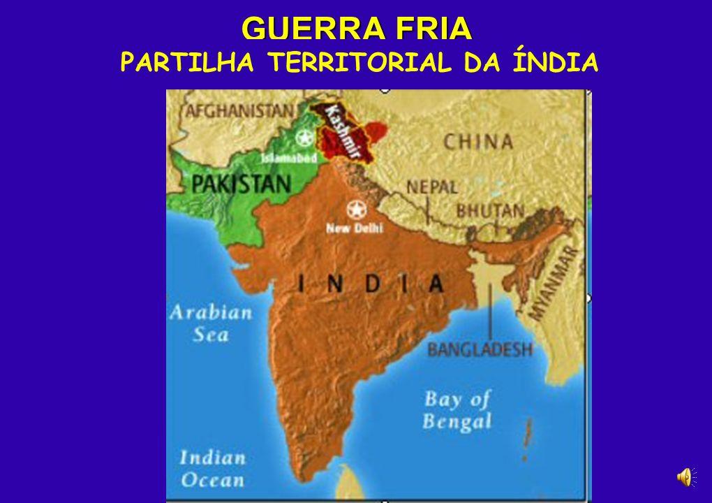 PARTILHA TERRITORIAL DA ÍNDIA