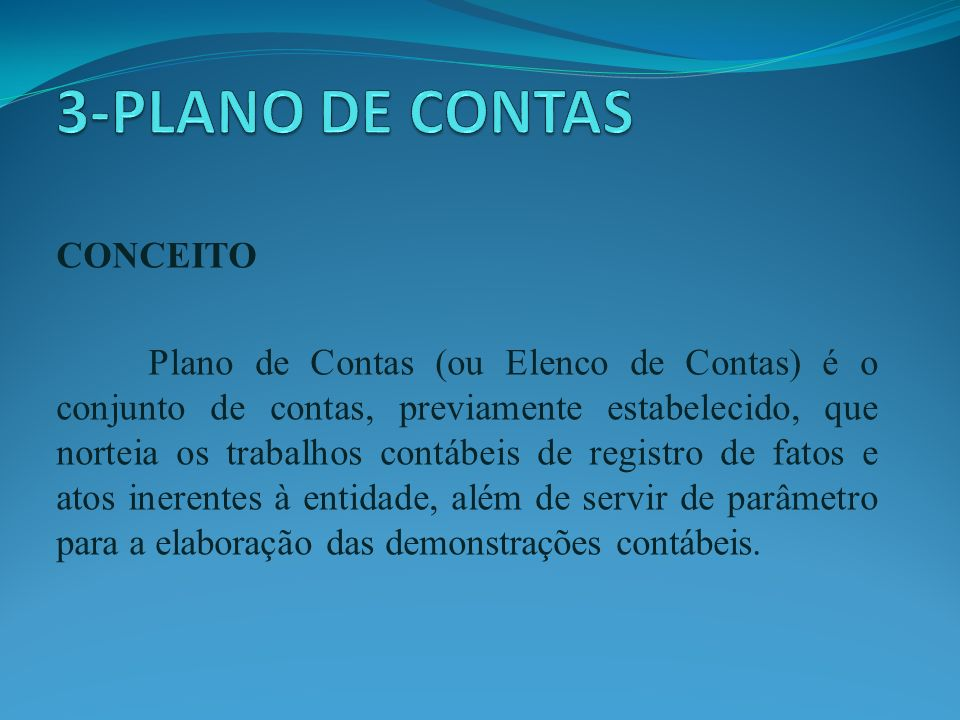 3-PLANO DE CONTAS CONCEITO