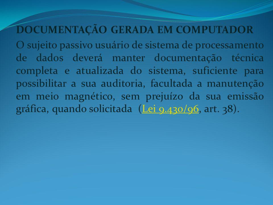 DOCUMENTAÇÃO GERADA EM COMPUTADOR