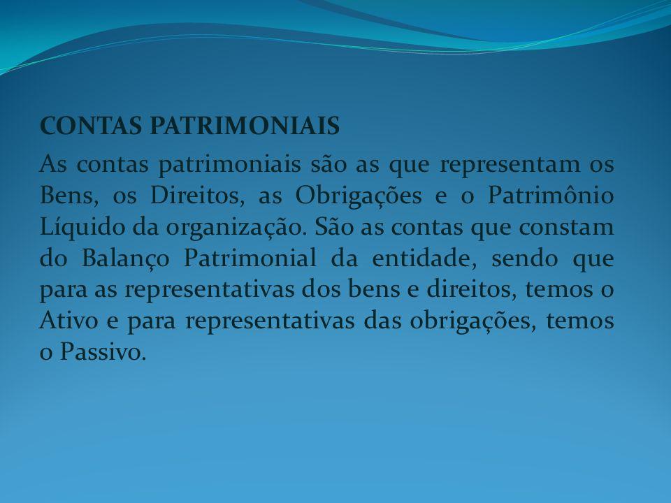 CONTAS PATRIMONIAIS.