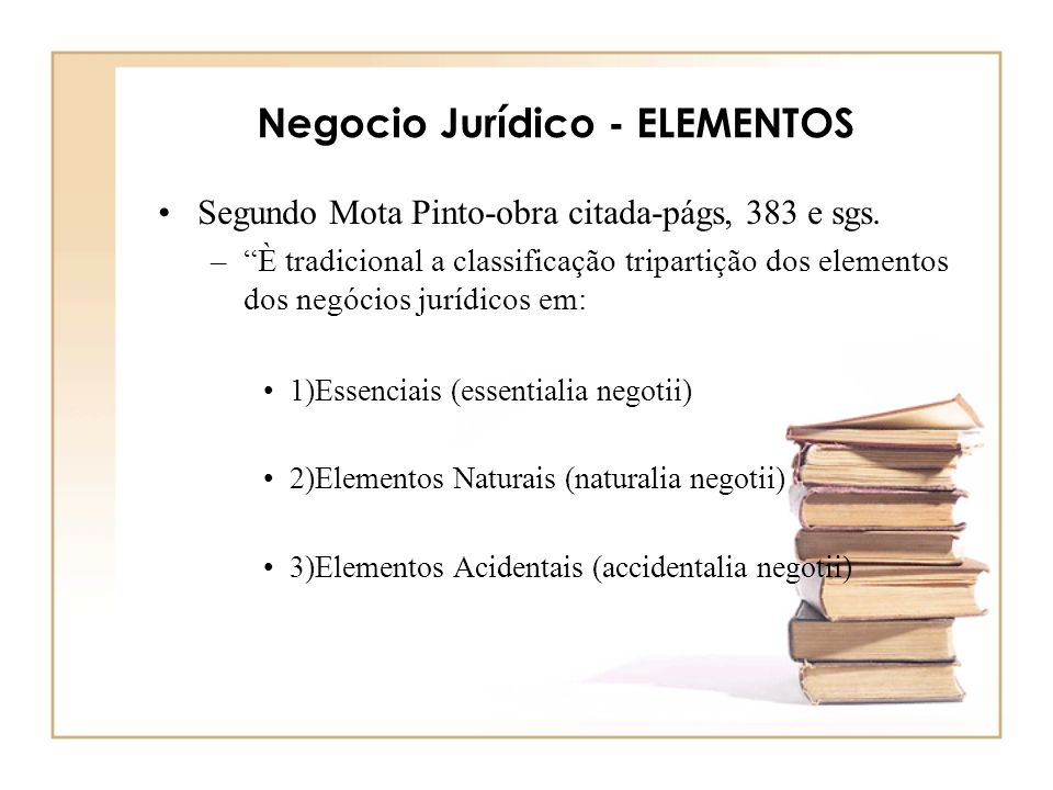 Negocio Jurídico - ELEMENTOS