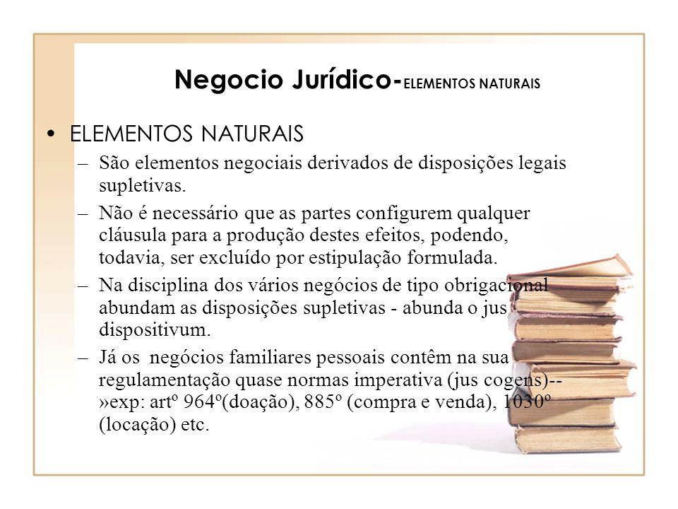 Negocio Jurídico-ELEMENTOS NATURAIS
