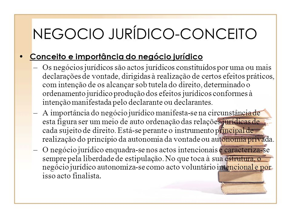 NEGOCIO JURÍDICO-CONCEITO
