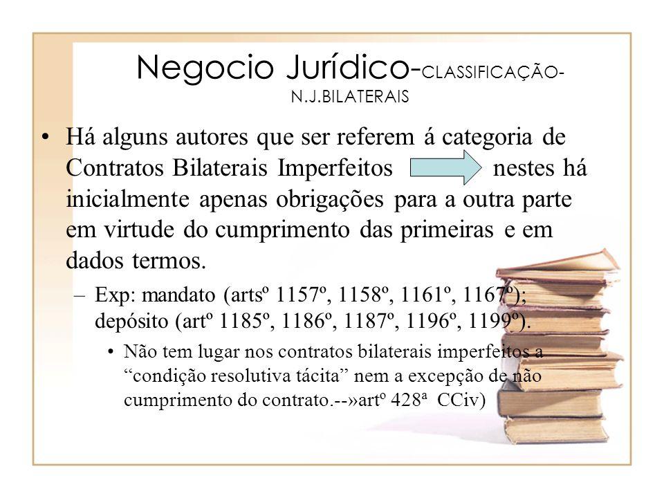 Negocio Jurídico-CLASSIFICAÇÃO-N.J.BILATERAIS