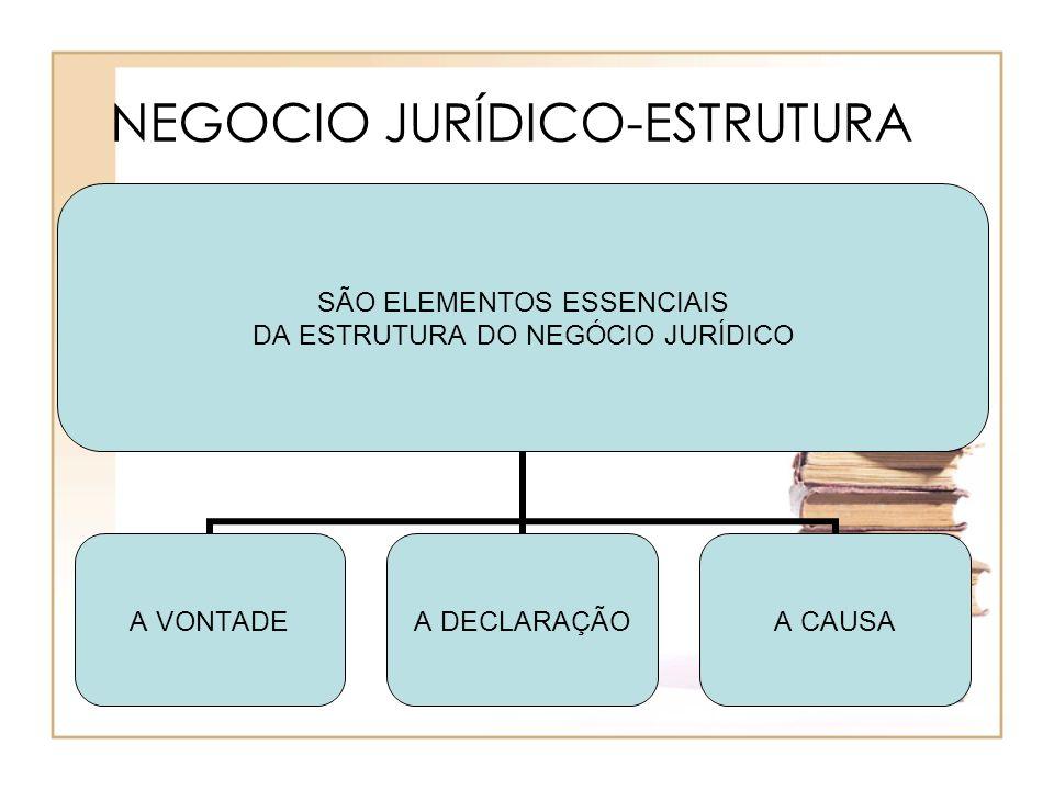 NEGOCIO JURÍDICO-ESTRUTURA