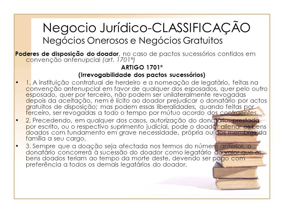 Negocio Jurídico-CLASSIFICAÇÃO Negócios Onerosos e Negócios Gratuitos