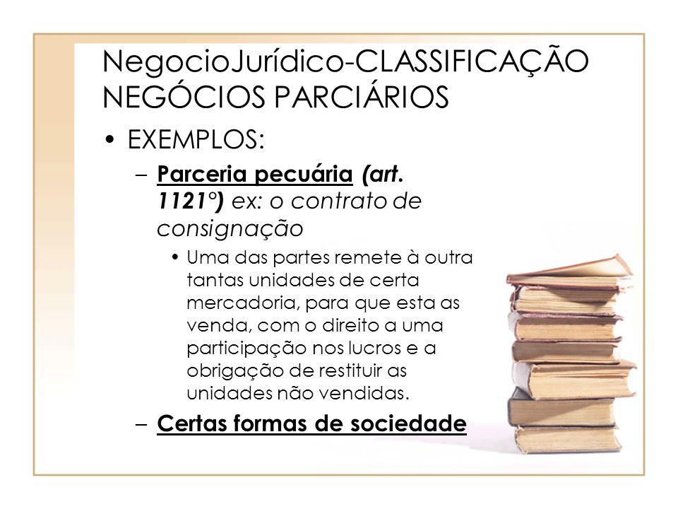 NegocioJurídico-CLASSIFICAÇÃO NEGÓCIOS PARCIÁRIOS
