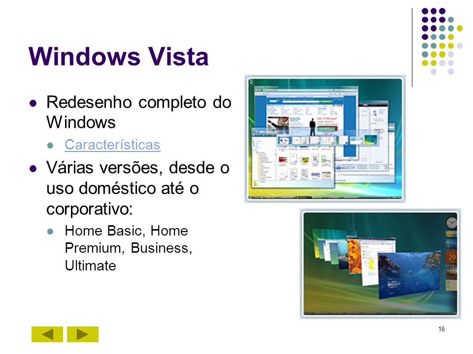 Windows Vista Redesenho completo do Windows