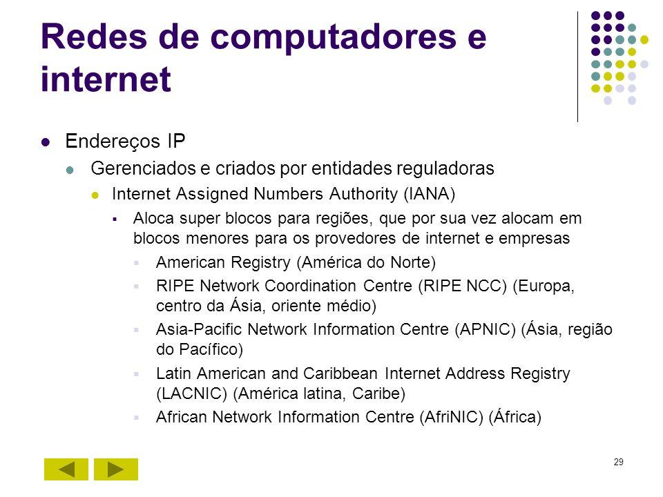 Redes de computadores e internet