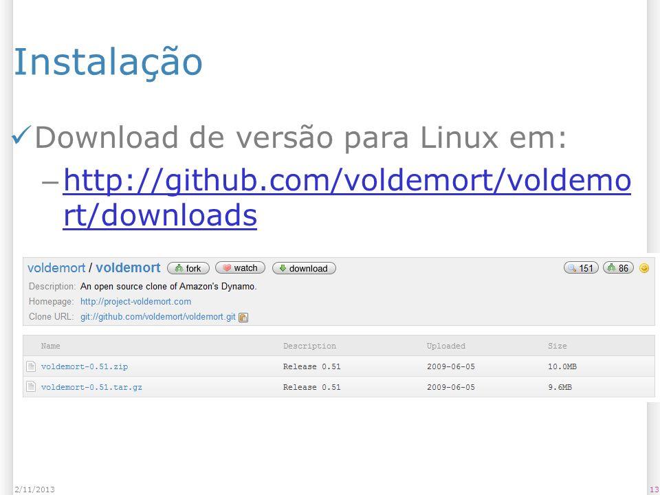 Instalação Download de versão para Linux em: