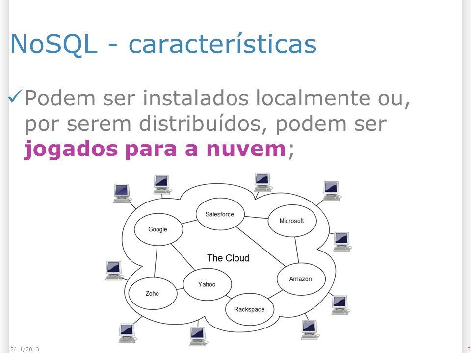 NoSQL - características