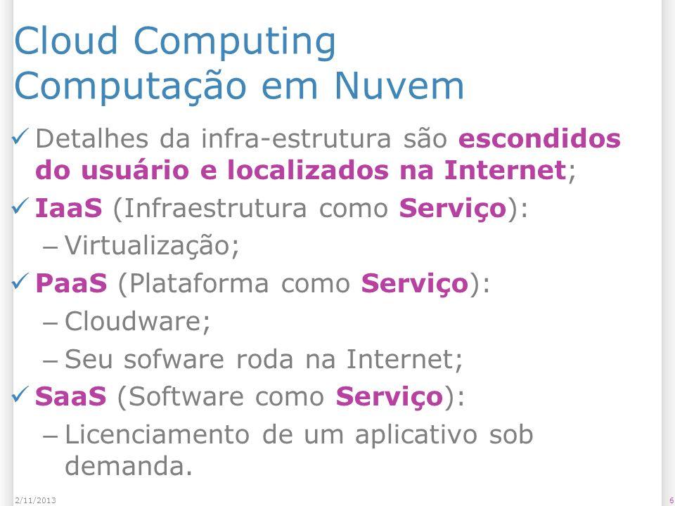 Cloud Computing Computação em Nuvem