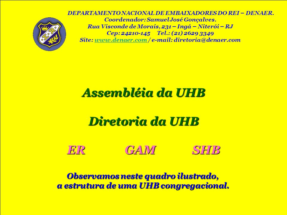 Assembléia da UHB ER GAM SHB