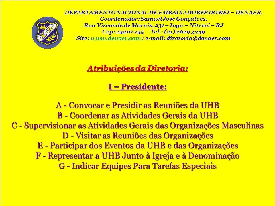 A - Convocar e Presidir as Reuniões da UHB