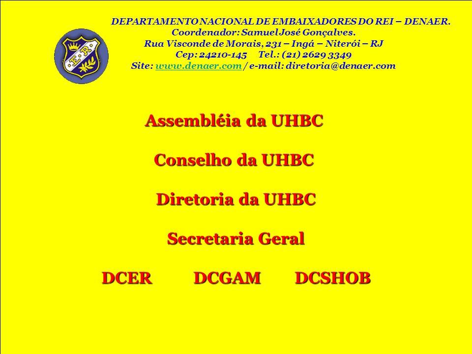 Assembléia da UHBC Conselho da UHBC Diretoria da UHBC Secretaria Geral