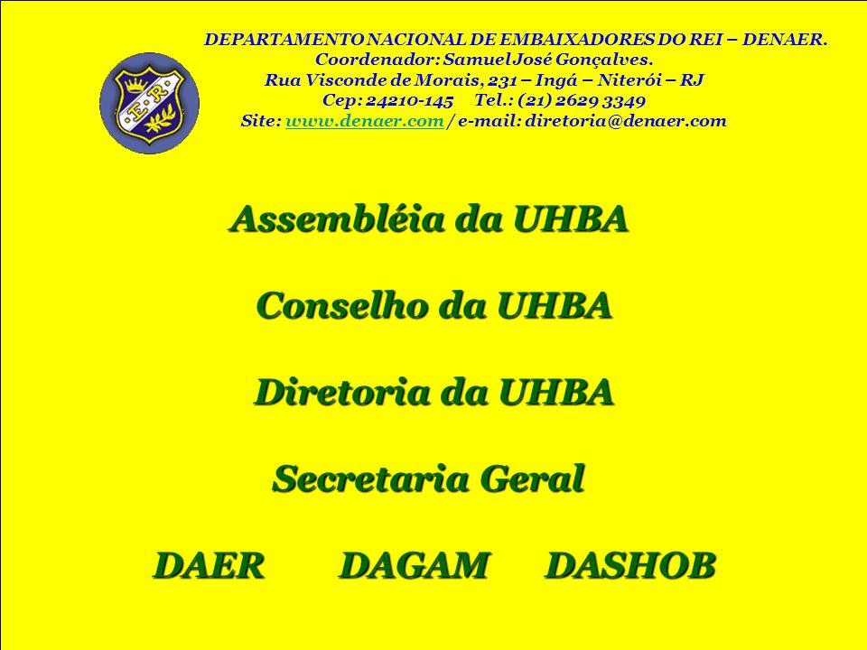 Assembléia da UHBA Conselho da UHBA Diretoria da UHBA Secretaria Geral
