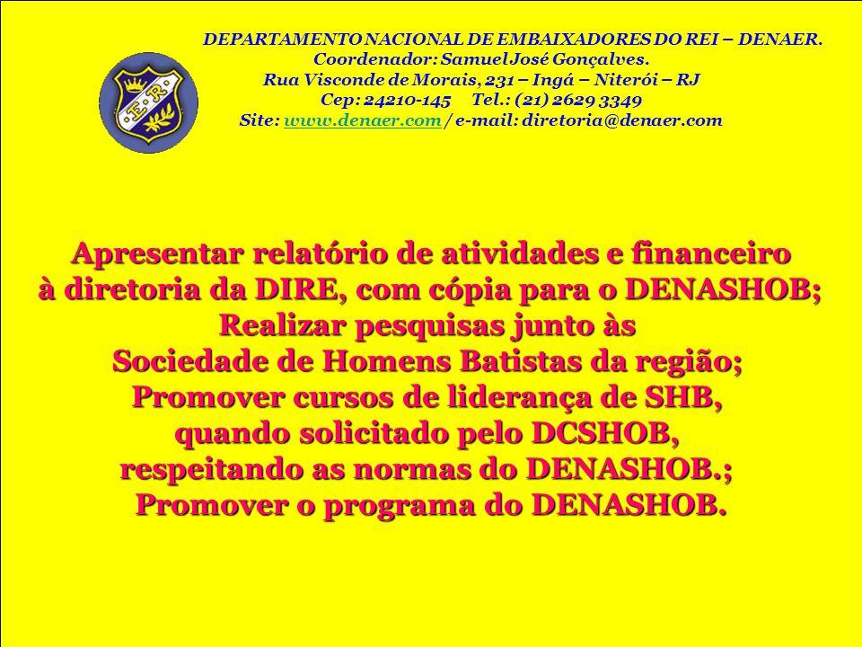 Apresentar relatório de atividades e financeiro
