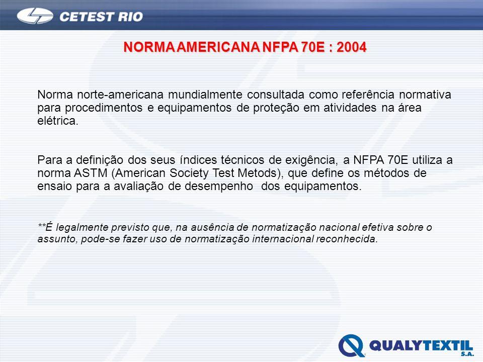 NORMA AMERICANA NFPA 70E : 2004