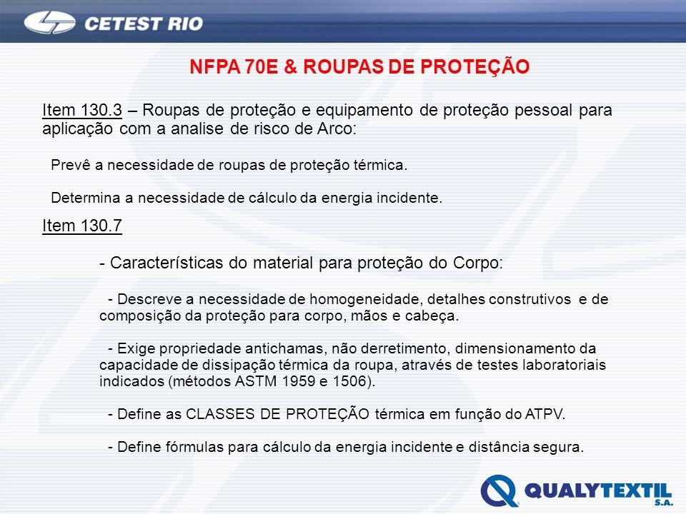 NFPA 70E & ROUPAS DE PROTEÇÃO