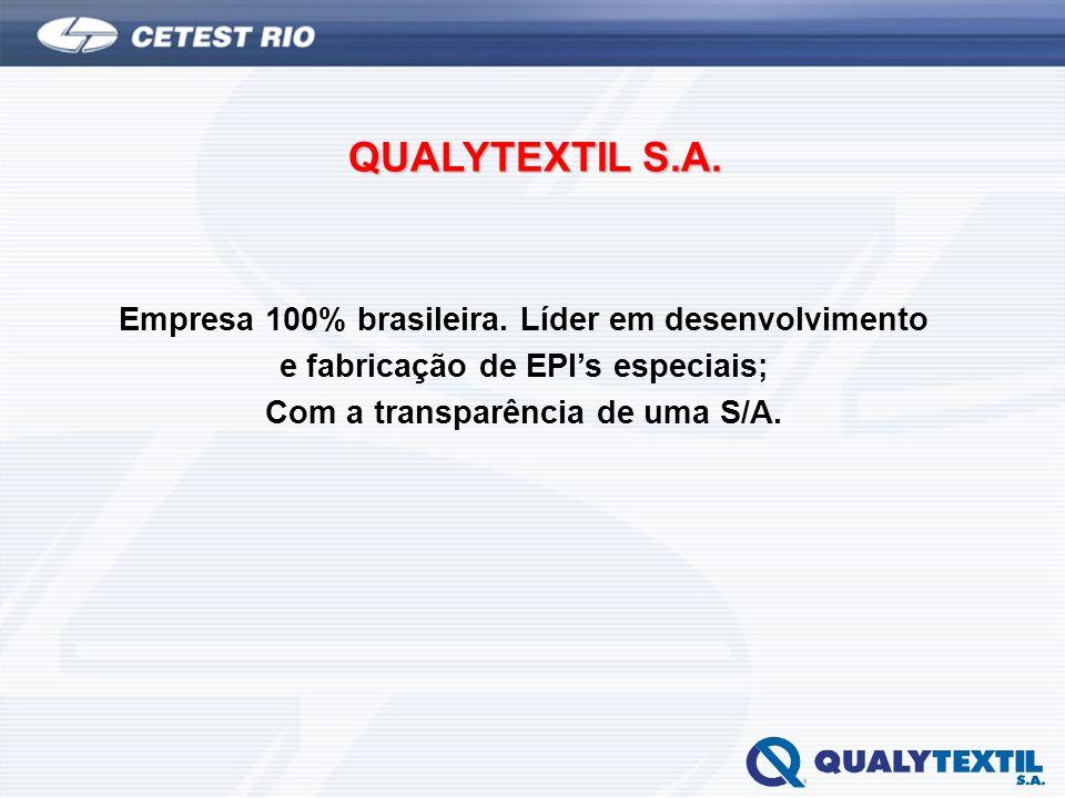 QUALYTEXTIL S.A. Empresa 100% brasileira. Líder em desenvolvimento