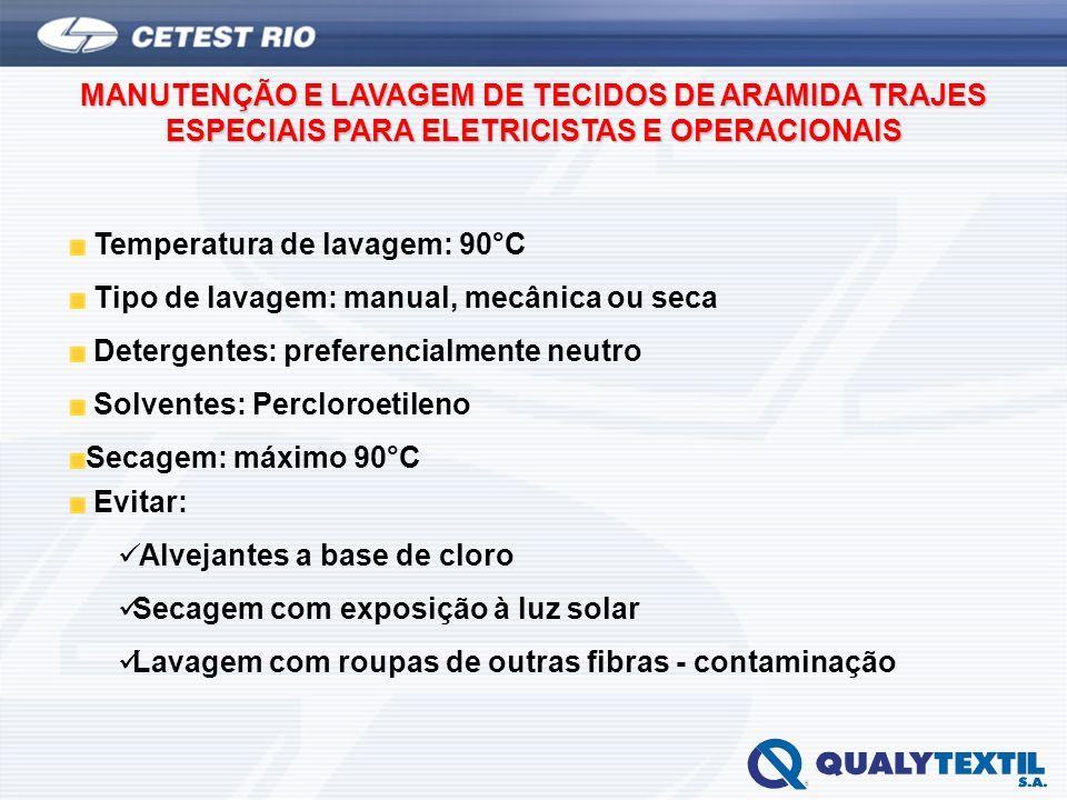 MANUTENÇÃO E LAVAGEM DE TECIDOS DE ARAMIDA TRAJES ESPECIAIS PARA ELETRICISTAS E OPERACIONAIS