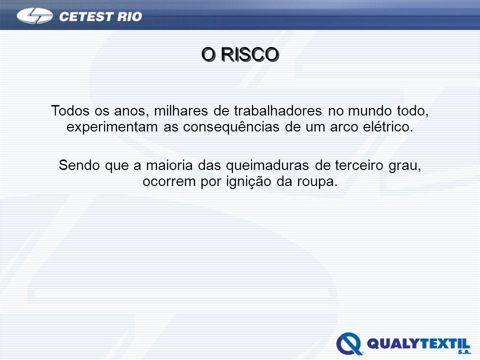 O RISCO Todos os anos, milhares de trabalhadores no mundo todo, experimentam as consequências de um arco elétrico.