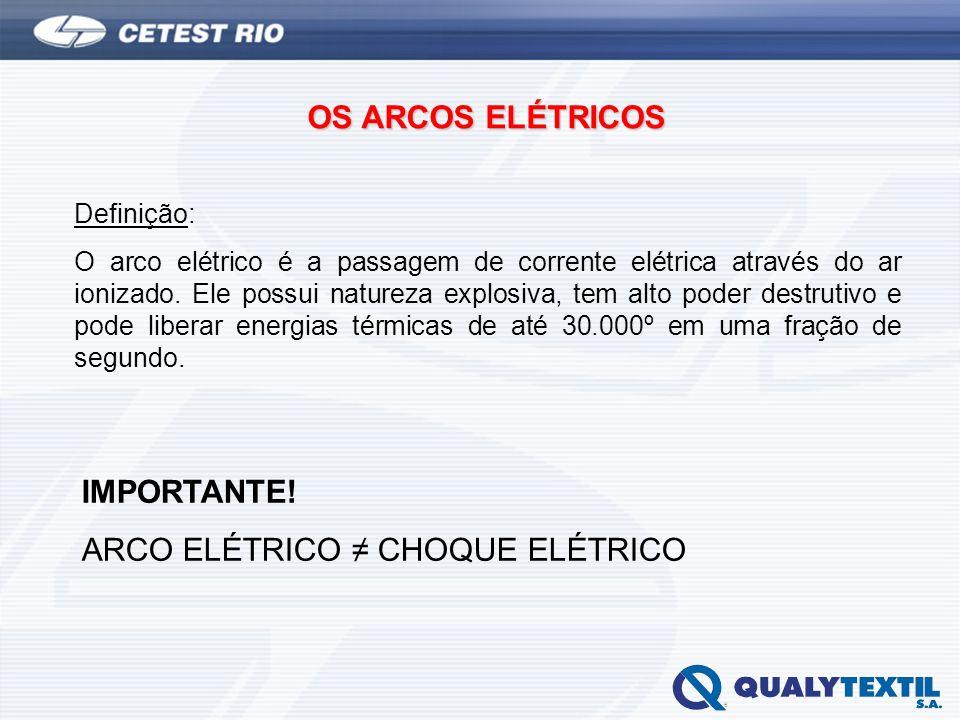 ARCO ELÉTRICO ≠ CHOQUE ELÉTRICO