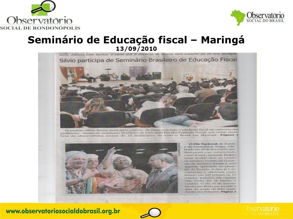 Seminário de Educação fiscal – Maringá